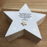 Shabby Chic Godmother Christening Chic gift Trinket Keepsake box personalised - 232929025889